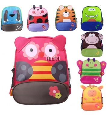 Cartoon Animal Design School Bag for Nursery Kindergarten Kids