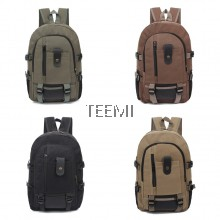 Outdoor Canvas Backpack Camping Travel Laptop Bag