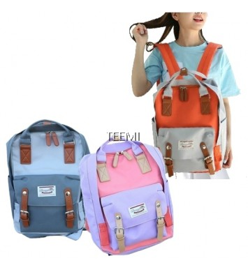 Contrast Color Macaron Donut Fashion Korean Backpack