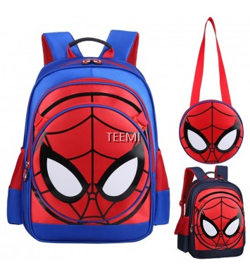 Spiderman Backpack Primary Secondary School Bag for Kids Water Scratch Resistant