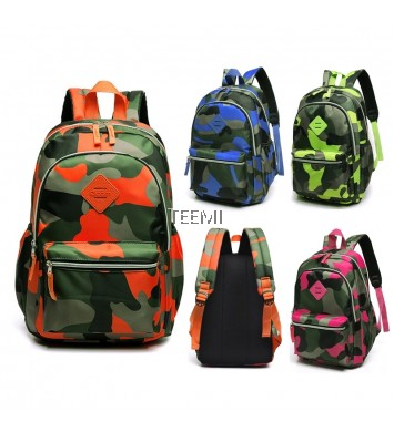 Camouflage Nylon Primary Secondary School Bag Kids Backpack
