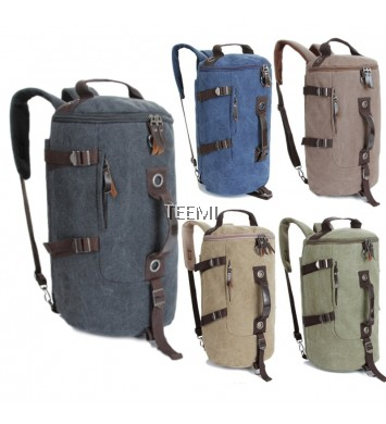 Duffel Bag Convertible Hiking Backpack Multipurpose Travel Luggage Canvas Duffle