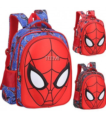 3D Spiderman Molded Face Preschool Primary School Bag Kids Cartoon Backpack