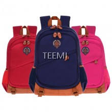 Large Multi-Compartment Organizer Backpack Vintage Children Kids Teenager School Bag