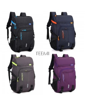 Top Load Travel Laptop Backpack - Black
