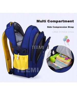 Two Tone Bright Color Primary Secondary Nylon Waterproof School Bag Kids Children Backpack