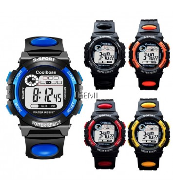 Big Number Kids Children Multi-function Sports LED Digital Watch Rainbow Back Light