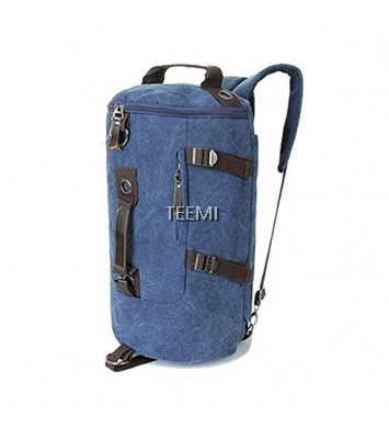 Duffel Bag Convertible Backpack - Dark Blue