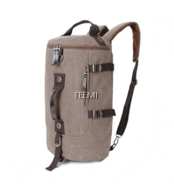 Duffel Bag Convertible Backpack - Brown