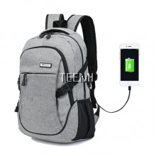 USB Travel Laptop Backpack - Grey