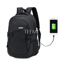 USB Travel Laptop Backpack - Black