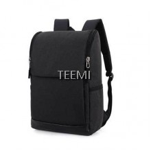 "Flap Zip Closure Solid 15.6"" Laptop Backpack - Black"