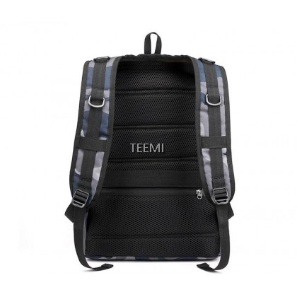 "TEEMI PUBG Bag Level 3 Backpack Gamer Bag Army Military USB Charging Port 16"" Laptop Gaming Battle Grounds Polyester Water Resistant Large Capacity Multi Compartment Outdoor Travel College Student Bag"