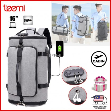 Anti-theft 3-in-1 Duffel Bag USB Port Laptop Backpack