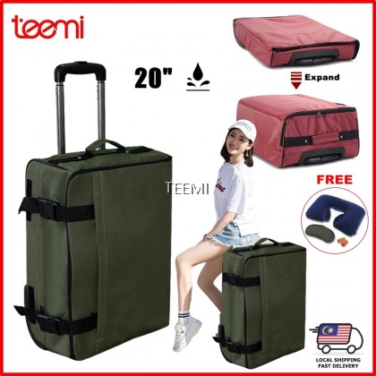 TEEMI Compact Foldable Trolley Luggage Expandable Travel Bag Two Wheels Baggage Easy Storage Space Saver Large Capacity Water Resistant Business Shopping Trip