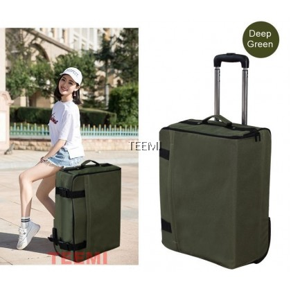 Compact Foldable Trolley Luggage Expandable Travel Bag Two Wheels Baggage
