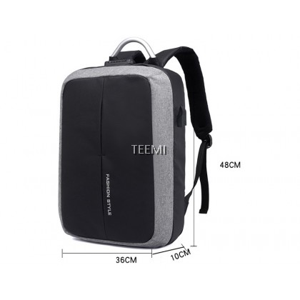 15.6 Inch Laptop Backpack Anti Theft Password Lock 180 Degree Full Opening